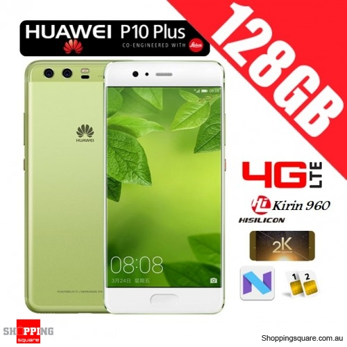 Huawei P10 Plus 128GB VKY-L29 Dual Sim 4G LTE Unlocked Smart Phone Greenery
