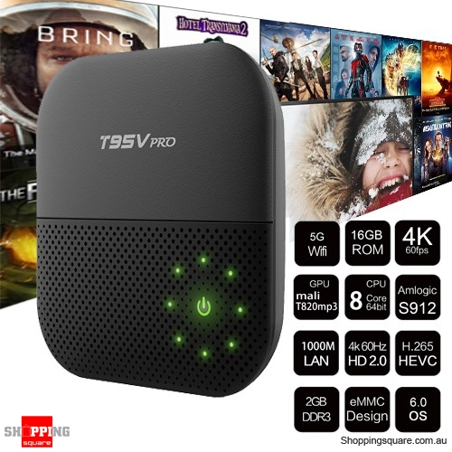 T95V PRO Android 6.0 Amlogic S912 Octa Core 2GB RAM 16GB ROM TV Box
