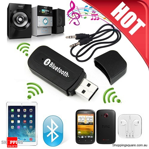 Bluetooth Wireless USB 3.5mm Audio Receiver Adapter Music Dongle Supported AUX A2DP for Car