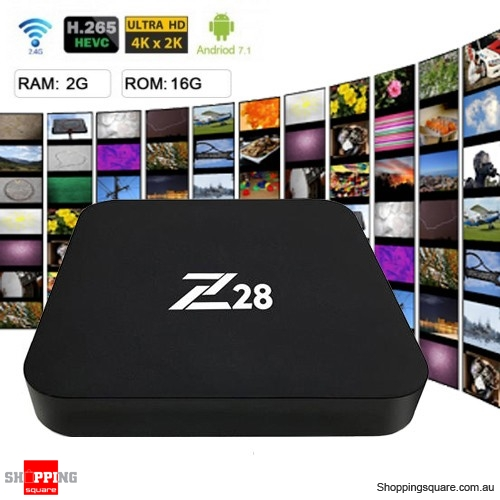 Z28 4K TV Box Android 7.1 RK3328 Media Player H.265 WiFi USB 3.0 2GB RAM 16GB ROM