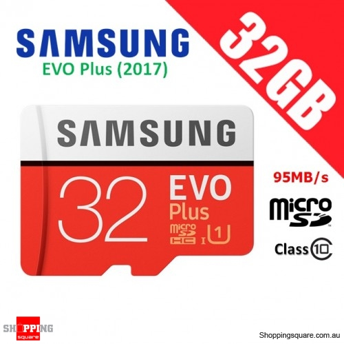 Samsung EVO Plus 32GB micro SD SDHC Memory Card UHS-I U1 95MB/s 4K Ultra HD (2017)