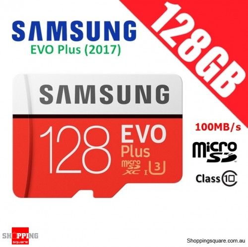 Samsung EVO Plus 128GB micro SDXC Memory Card UHS-I U3 100MB/s 4K Ultra HD (2017)