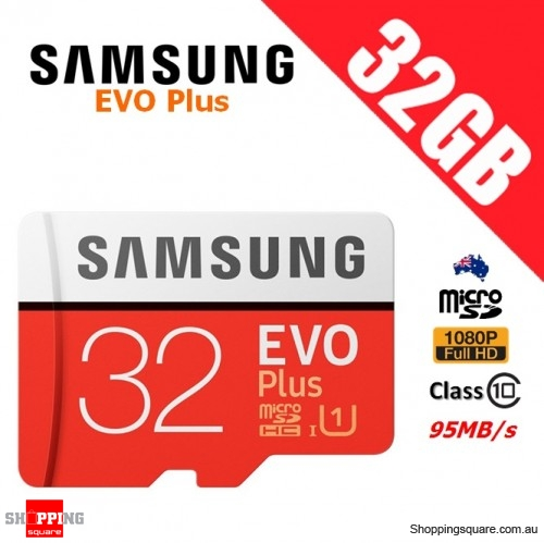 Samsung EVO Plus 32GB microSDHC Memory Card UHS-I U1 95MB/s 4K Ultra HD (2017)