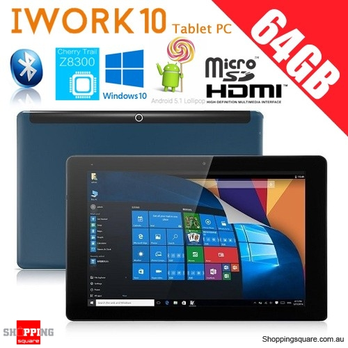 "Cube iWork 10 4GB+64GB 10.1"" Tablet PC with Windows 10+Android 5.1 Intel Atom Type-C"