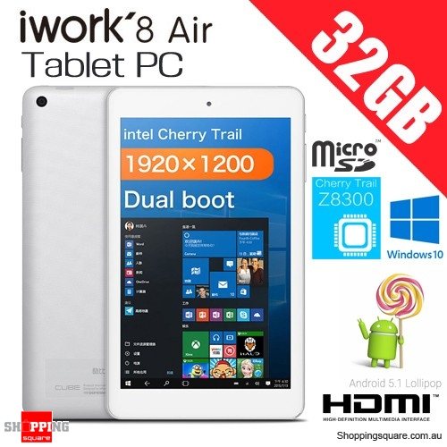 Cube iWork8 Air 8.0Inch 2GB+32GB Quad Core Tablet PC with Windows10 Android5.1 Dual Cam