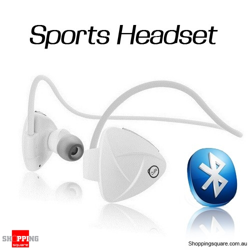 SH03D Wireless Bluetooth Stereo Sport Headset Earphone Supported NFC Media White Colour