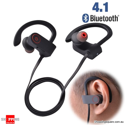 Bluetooth 4.1 Wireless Sport Earbuds Headphone Earphones Stereo for Gym Running Black & Red Colour