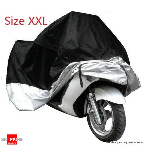 Waterproof Motorcycle Motorbike Cruiser Bike Outdoor Scooter Protective Cover Size XXL