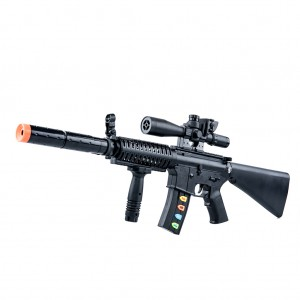 ABS Plastic Electronic Toy Gun with Light Sound for Kids