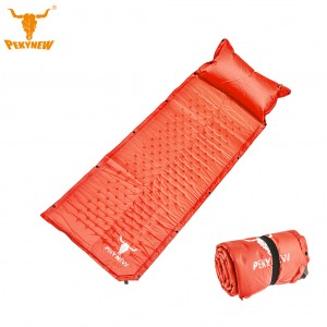 Self Inflating Sleeping Pad Camping Mattress with Pillow - Coral