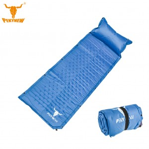 Self Inflating Sleeping Pad Camping Mattress with Pillow - Sea Blue