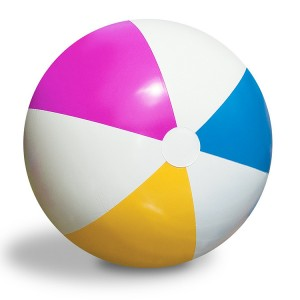 "Intex 24"" Colorful Inflatable Beach Ball for Beach Swimming Pool Activities"