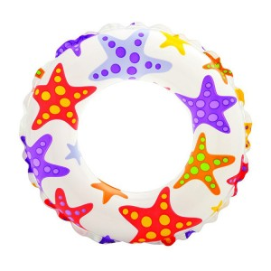 "Intex 24"" Star Pattern Inflatable Swim Ring"