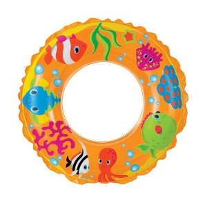 "Intex 24"" Transparent Fish Pattern Inflatable Swim Ring"