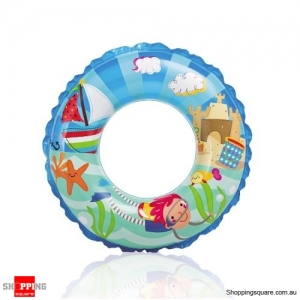 "Intex 24"" Transparent Undersea World Pattern Inflatable Swim Ring"