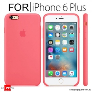Genuine Apple iPhone 6, 6S Plus Silicone Case Pink Colour
