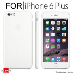 Genuine Apple iPhone 6 Plus Silicone Case White Colour