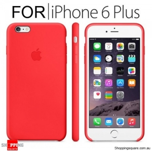 Genuine Apple iPhone 6, 6S Plus Silicone Case Red Colour