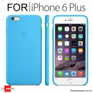 Genuine Apple iPhone 6, 6S Plus Silicone Case Blue Colour