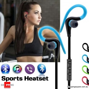 Bluetooth 4.1 Wireless Sports In-Ear Stereo Headset Headphones Earphones with Mic Red Colour
