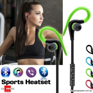 Bluetooth 4.1 Wireless Sports In-Ear Stereo Headset Headphones Earphones with Mic Green Colour