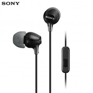 Sony MDR-EX15AP Extra Bass Stereo Earphones with Mic Black