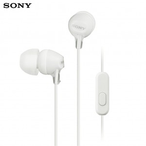 Sony MDR-EX15AP Extra Bass Stereo Earphones with Mic White