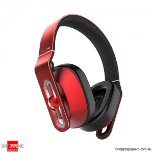 1MORE Super Bass Over Ear Headphone Headset Earphone 3.5mm Jack with Mic Red Colour