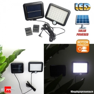 6W Solar Powered 56 LED PIR Wall Motion Sensor Light Lamp for Outdoor Garden Backyard Street Security