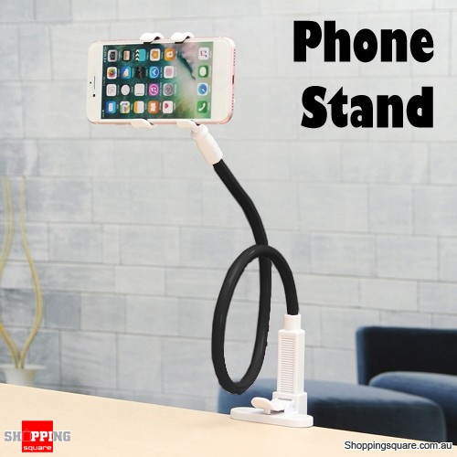 Universal Fit Flexible Long Arms Bed Desk Mobile Stand Holder Bracket for Lazy Samsung iPhone Black Colour