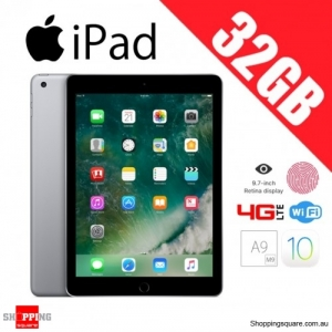 Apple iPad 32GB 9.7 Inch WiFi + 4G LTE Cellular Tablet Space Gray