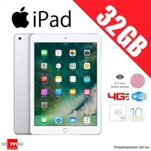 Apple iPad 32GB 9.7 Inch WiFi + 4G LTE Cellular Tablet Silver