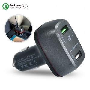 Quick Charge 3.0 Dual USB Ports Car Charger