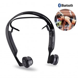 S.Wear Mix 8 Bone Conduction Bluetooth Headphones with Mic Voice Prompt