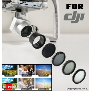 Lens Filters Set for DJI Phantom 3 or Phantom 4 Professional Advanced and Standard UV Polarized ND