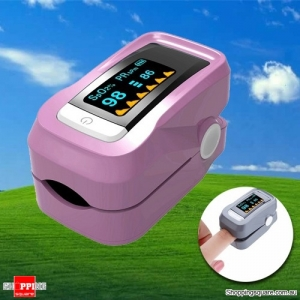 SpO2 Pulse Rate Oximeter CE OLED Display Bar Graph Pulse Rate Waveform Safe Pink Colour