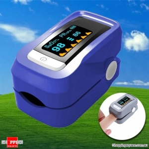 SpO2 CE OLED Display Pulse Rate Oximeter Supported Bar Graph Pulse Rate Waveform Purple Colour