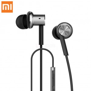 Original Xiaomi Hybrid Dual Drivers Wired Control Earphone Headphone With Mic Silver Colour