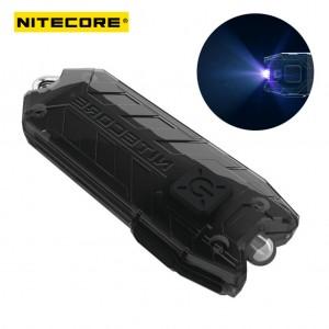 NiteCore Tube Keychain Light T Series 45 Lumen Multi Color Pocket Flashlight-Black