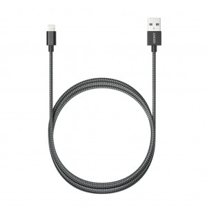 Anker 1.8m Nylon Braided Lightning USB Charging Cable For Apple iPhone iPad iPod - Black