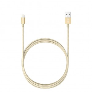 Anker 1.8m Nylon Braided Lightning USB Charging Cable For Apple iPhone iPad iPod - Gold