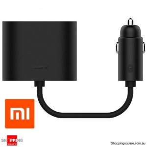 Genuine ROIDMI Xiaomi Car Dual Cigarette Lighter Splitter Charger Adapter Black Colour