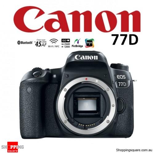 Canon EOS 77D 24.2MP Digital Camera WiFi Full HD HDR DSLR Body Black