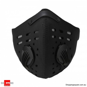 Anti Dust Dustproof Half Face Mask with Filter for Ski Motorcycle Racing Bicycle Cycling Black Colour