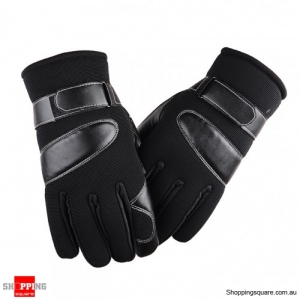 Winter Thickened Anti-skid Windproof Warm Gloves Mittens for Skiing Outdoor Driving Black Colour