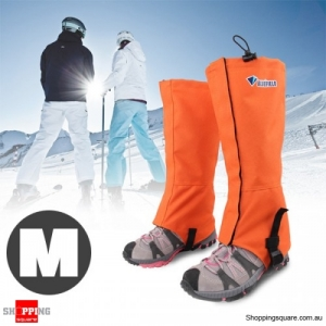 Waterproof Gaiters Boots for Hiking Hunting Ski Snow Orange Colour Size M