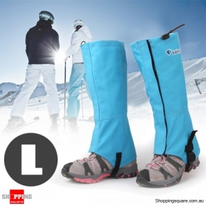 Waterproof Gaiters Boots for Hiking Hunting Ski Snow Blue Colour Size L