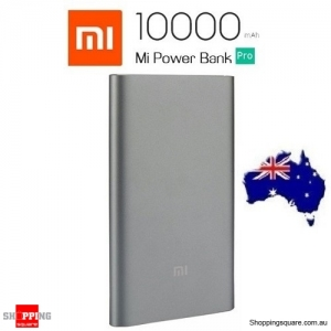 Genuine Xiaomi 10000mAh Power Bank Pro QC3.0 Polymer with Type-C Output For Mi 5s Android LGG6 Grey Colour