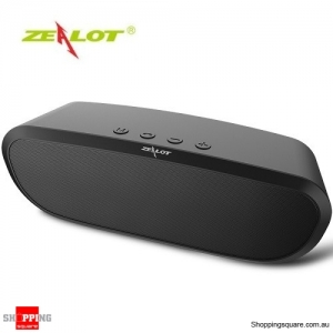 Zealot S9 2400mAh Portable Wireless Bluetooth Speaker Bass Supported Hands-free TF Card AUX Black Colour