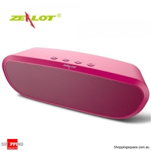 Zealot S9 2400mAh Portable Wireless Bluetooth Speaker Bass Supported Hands-free TF Card AUX Red Colour